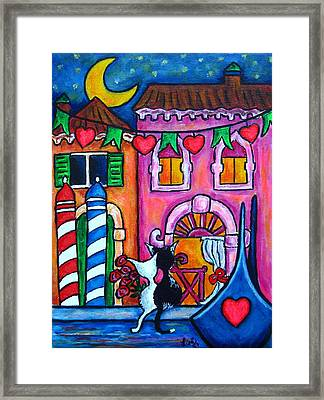Amore In Venice Framed Print by Lisa  Lorenz