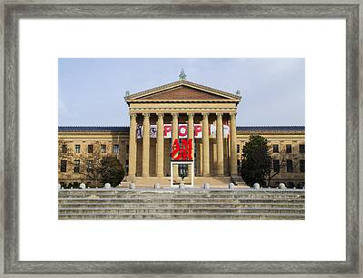Amore - The Philadelphia Museum Of Art Framed Print by Bill Cannon