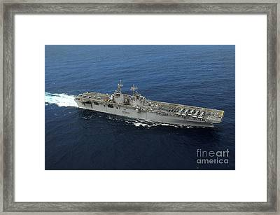 Amphibious Assault Ship Uss Kearsarge Framed Print by Stocktrek Images