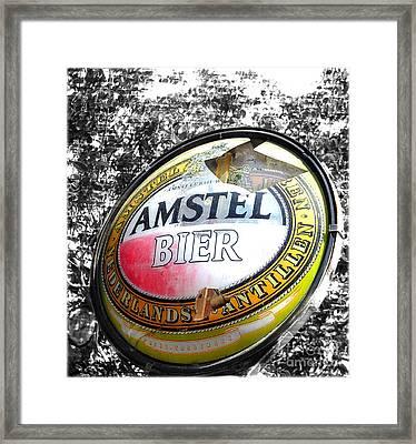 Amstel Bier  Framed Print by Steven Digman