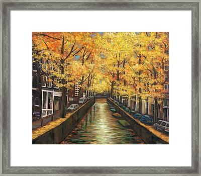 Amsterdam Autumn Framed Print by Johnathan Harris