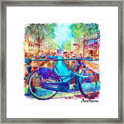 Amsterdam Bicycle Framed Print by Marian Voicu