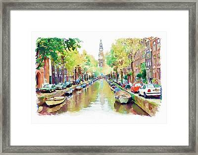 Amsterdam Canal 2 Framed Print by Marian Voicu
