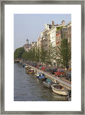 Amsterdam Canal Framed Print by Andy Smy