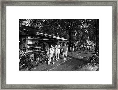 Amsterdam Street Market Framed Print by Aidan Moran