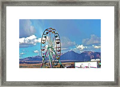 Amusement View Framed Print by Gwyn Newcombe