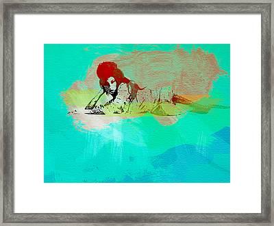 Amy Winehouse 3 Framed Print by Naxart Studio