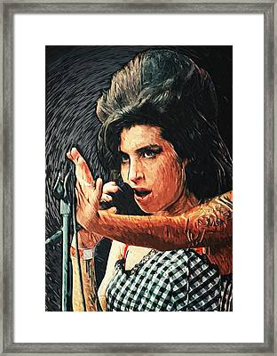 Amy Winehouse Framed Print by Taylan Soyturk
