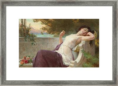 An Afternoon Rest Framed Print by Guillaume Seignac