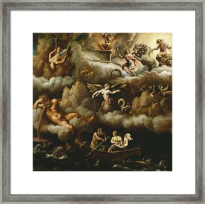 An Allegory Of Immortality Framed Print by Giulio Romano