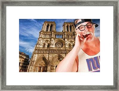 An American In Paris Notre Dame Framed Print by Tony Rubino