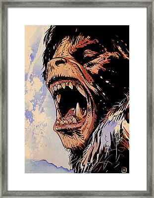 An American Werewolf In London Framed Print by Giuseppe Cristiano