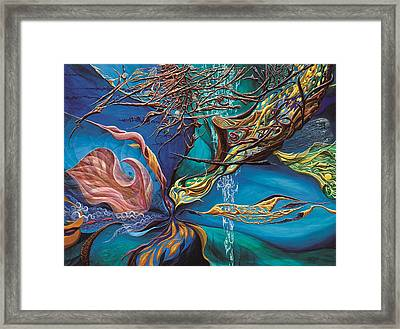 An Anchor In Space Framed Print by Charles Cater