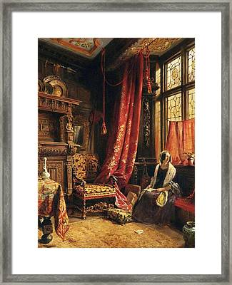 An Antique Interior At West Hill House Framed Print by William Collingwood