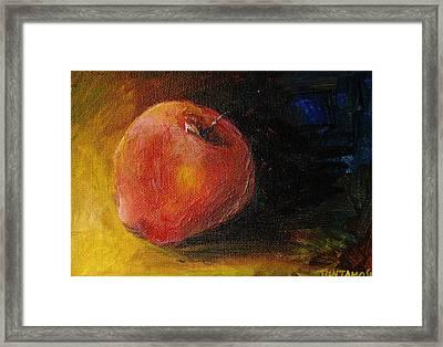 An Apple - A Solitude Framed Print by Jun Jamosmos