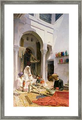 An Arab Weaver Framed Print by Armand Point