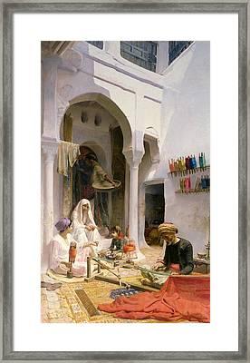 An Arab Weaver Framed Print by Armand Point