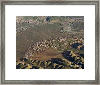 An Arc Of Fields Framed Print by Tim Grams