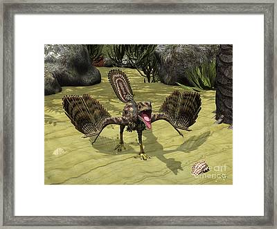 An Archaeopteryx Depicted Framed Print by Walter Myers