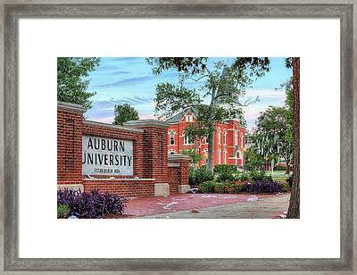 An Auburn University Sunday Morning Framed Print by JC Findley