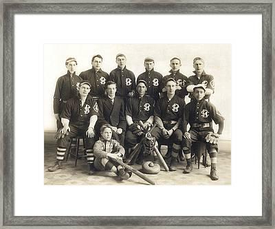 An Early Sf Baseball Team Framed Print by American School