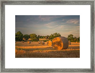 An Evening Amongst The Hay Framed Print by Chris Fletcher