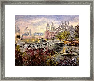 An Evening In Central Park Framed Print by Spencer Yancey