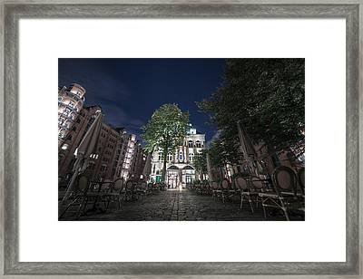 An Evening In Hamburg Framed Print by Mountain Dreams