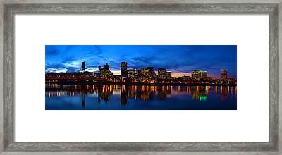 An Evening In Portland Framed Print by Brian Bonham