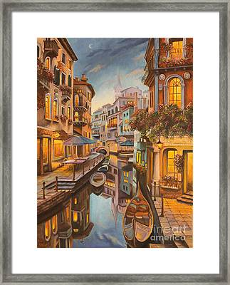 An Evening In Venice Framed Print by Charlotte Blanchard