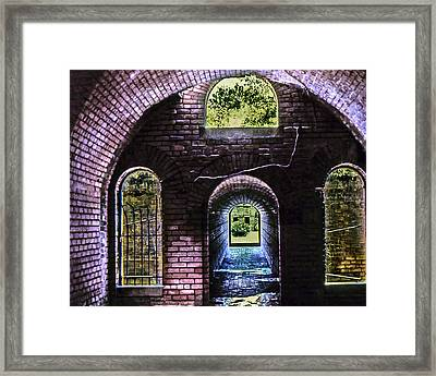 An Exit Framed Print by Norman Johnson