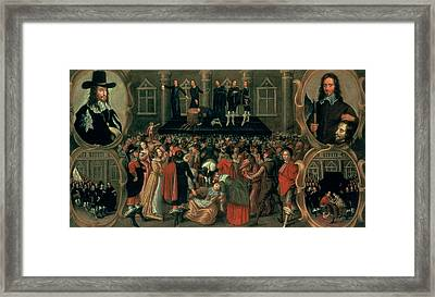 An Eyewitness Representation Of The Execution Of King Charles I Framed Print by John Weesop