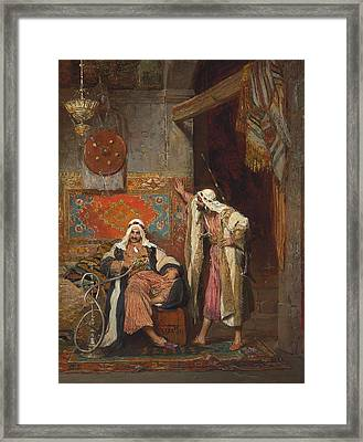 An Idle Conversation, 1872 Framed Print by Arnold Corrodi