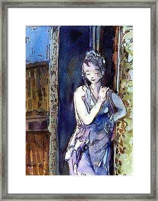 An Italian Violet Framed Print by Mindy Newman