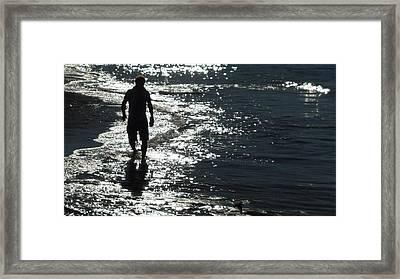 An Ocean Walk Framed Print by Patricia Lyons