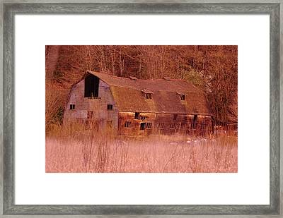 An Old Dairy Barn  Framed Print by Jeff  Swan