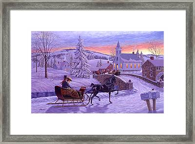 An Old Fashioned Christmas Framed Print by Richard De Wolfe