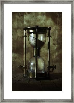 An Old Hourglass Framed Print by Jaroslaw Blaminsky