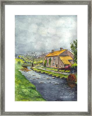 An Old Stone Cottage In Great Britain Framed Print by Carol Wisniewski