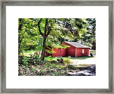 An Old Wooden Shed 1 Framed Print by Lanjee Chee