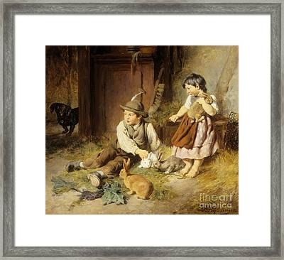 An Unwelcome Visitor Framed Print by Felix Schlesinger