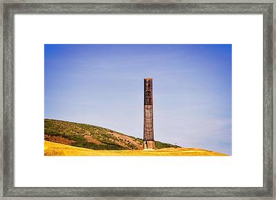 Anaconda Montana - 1918 Washoe Smelter Smokestack  Framed Print by Image Takers Photography LLC - Laura Morgan