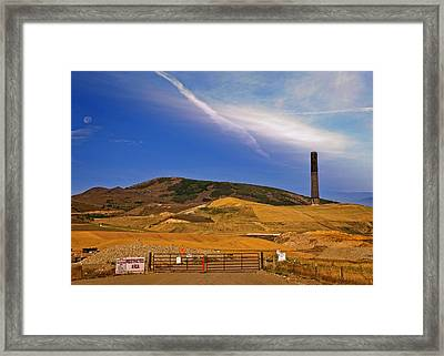Anaconda Montana Historic Place - The Stack  Framed Print by Image Takers Photography LLC - Laura Morgan