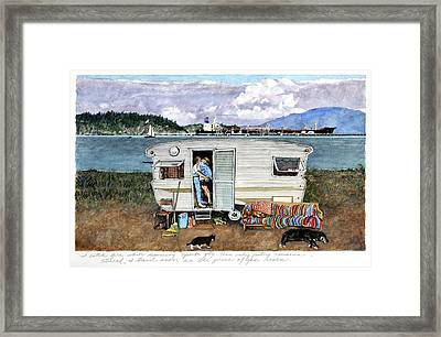 Anacortes Fuel Framed Print by Perry Woodfin