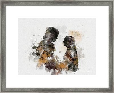 Anakin And Padme Framed Print by Rebecca Jenkins