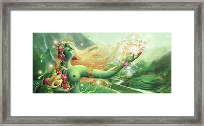Anapurnadevi Framed Print by George Atherton