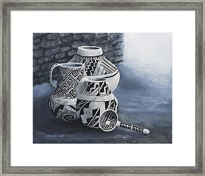 Anasazi Charm Framed Print by Jerry McElroy