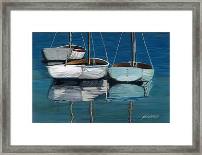 Anchored Reflections I Framed Print by Sharon Kearns