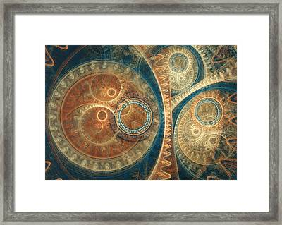 Ancient Clockwork Framed Print by Martin Capek