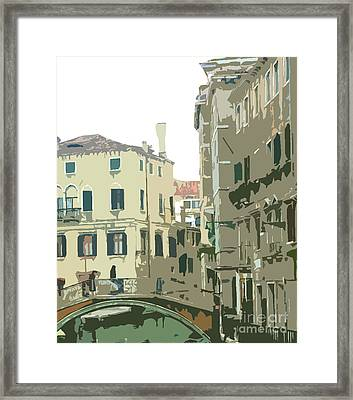 Ancient Italian Canal In Venice Framed Print by Mindy Newman
